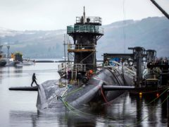 SNP activists want the Trident nuclear weapons to be out of Scotland within three years of independence. (Danny Lawson)