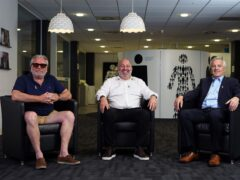 Actor Ray Winstone, city trader Gary Pettit and former Charlton Athletic chief executive Peter Varney (Prostate Cancer UK/PA)