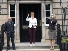 A majority of Scots think the deal between Nicola Sturgeon's party and the Greens strengthens calls for another independence vote, according to a new poll (Lesley Martin/PA)