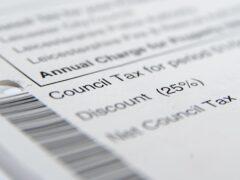 Council tax bill (Joe Giddens/PA)