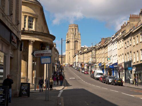 Bristol University's Wills Memorial building at the end of Park Street (Ben Birchall/PA)