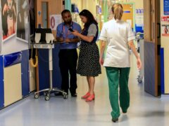Just 77.8% of those who attended A&E in August were seen within the four-hour target time (Peter Byrne/PA)