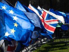 Union and European Union flags (Jonathan Brady/PA)