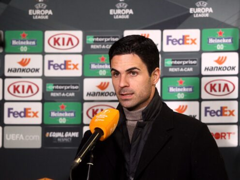 Arsenal manager Mikel Arteta guided his side to the semi-finals of the Europa League last season (Brian Lawless/PA)