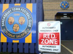 Shrewsbury have suspended three spectators as an allegation of racist abuse is investigated (Barrington Coombs/PA)