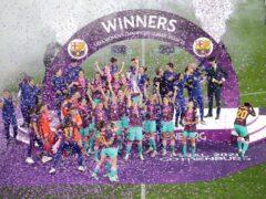 Barcelona beat Chelsea 4-0 in last season's Women's Champions League final (Adam Ihse/PA).