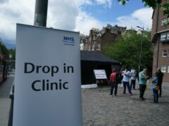 Clinics will continue at several sites around Scotland (Andrew Milligan/PA)