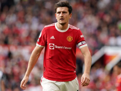 Harry Maguire is nearing a return for Manchester United (Martin Rickett/PA)