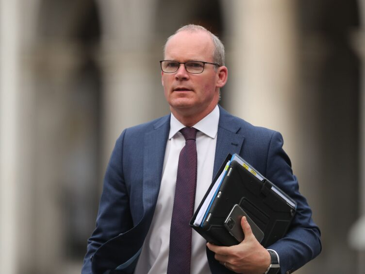 Simon Coveney has questioned the UK's intentions with the EU (PA)