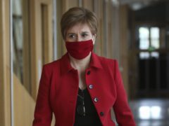 First Minister Nicola Sturgeon was speaking at Holyrood (Fraser Bremner/Scottish Daily Maill/PA)