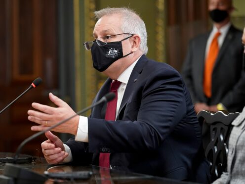 Australian Prime Minister Scott Morrison was criticised for cancelling the submarine contract (Patrick Semansky/AP)