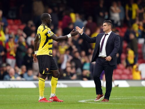 Watford manager Xisco Munoz wants his team to show their personality and character at Leeds (Tess Derry/PA)