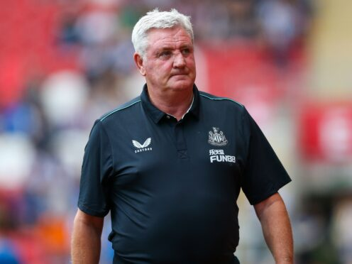Steve Bruce looks set to take charge of Newcastle's first match under their new owners (Barrington Coombs/PA)