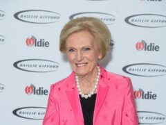 Dame Mary Berry revealed she underwent surgery for a broken hip (Dominic Lipinski/PA)