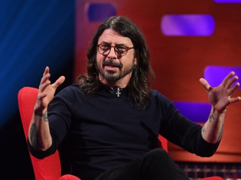 Dave Grohl during the filming for the Graham Norton Show (Matt Crossick/PA)