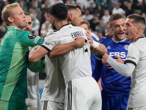 Leicester lost in a fiery clash (AP Photo/Czarek Sokolowski)