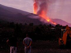 Lava flows from a volcano on the Canary island of La Palma, Spain (Daniel Roca/AP)