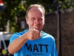 Matt Hancock said a technicality in UN rules meant he could not be an MP and a special representative (Yui Mok/PA)