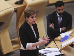 Nicola Sturgeon was speaking at First Minister's Questions (Fraser Bremner/Daily Mail/PA)