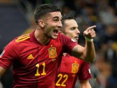 Ferran Torres fired Spain into the Nations League final (Antonio Calanni/AP)
