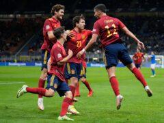Spain are into the Nations League final (Antonio Calanni/AP)