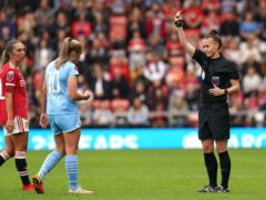 Georgia Stanway was sent off in Saturday's derby (Martin Rickett/PA)