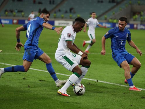 Chiedozie Ogbene scored his first goal for the Republic of Ireland on Saturday (AP)