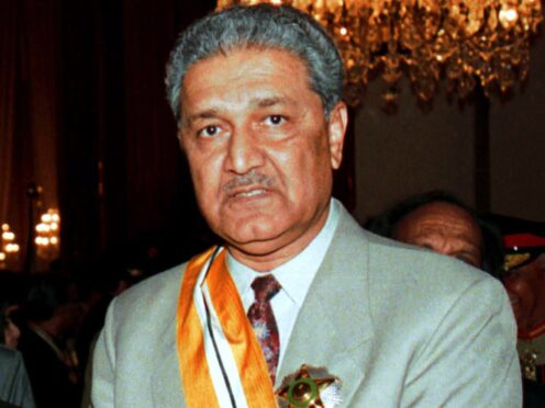 Scientist Abdul Qadeer Khan, founder of Pakistan's nuclear programme, has died aged 85 (AP)