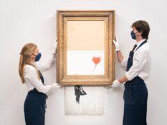Banksy's Love Is In The Bin (Dominic Lipinski/PA)