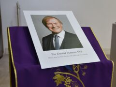 A photograph of Sir David Amess in St Peter's Church in Eastwood (Nick Ansell/PA)