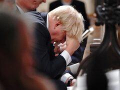 Prime Minister Boris Johnson at a service to honour Sir David Amess (Jonathan Brady/PAQ)