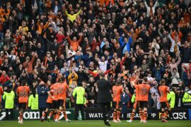 Beautiful Saturday: Tam Courts enjoys Dundee United fans bonding session as Tannadice side go third