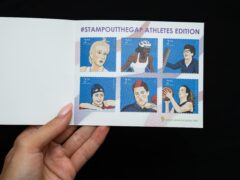 Six Paralympians with Cerebral Palsy have featured on a set of mock second-class stamps, as part of a charity campaign to stamp out healthcare inequality (CPG/ Adult CP Hub/PA)