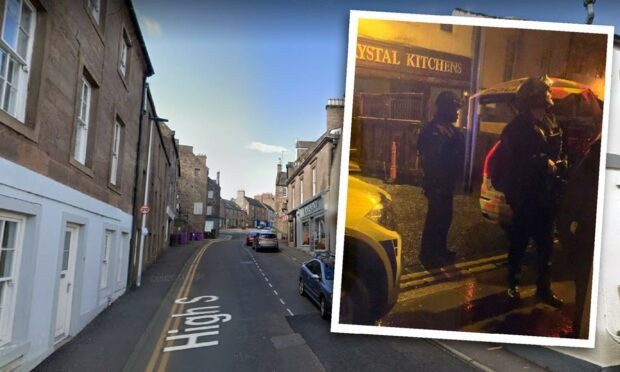 Heavy armed police presence on Brechin High Street after 'disturbance'