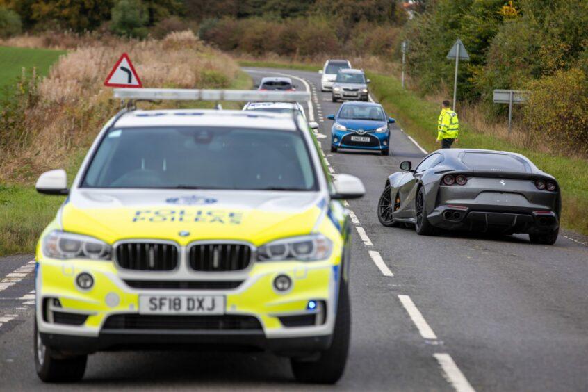Police attend two vehicle crash in Fife involving Ferrari