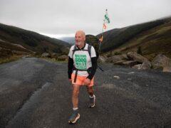 David Matthews is nearing the end of the Irish leg of his walk (PA)