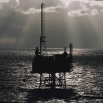 North Sea on crest of