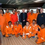 Aberdeen's Catholic community support stranded crew of detained vessel