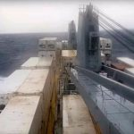 Video: Watch this rough ride for cargo ship in the Med