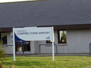 Campbeltown airport, where the check-in changes came in to place on Monday.