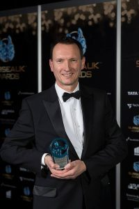 Steve Ham who picked up the award at the ceremony in Aberdeen last Thursday. F06 Underwater Centre 2no