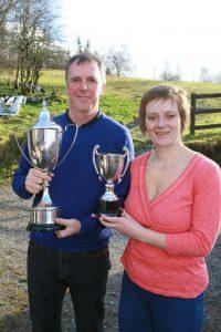 Mens champion of Spean Bridge Golf Club Garry Martin and Ladies Champion Aeleen Campbell. Anthony MacMillan Photography. F09 Golf 2no AM