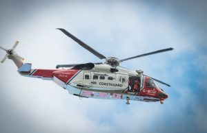 A Coastguard helicopter in action in Lochaber. Photograph: Abrightside Photography. FW Coastguard helicopter 02 no
