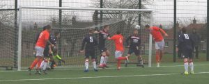 Sean Ferrie heads Letham into the lead.