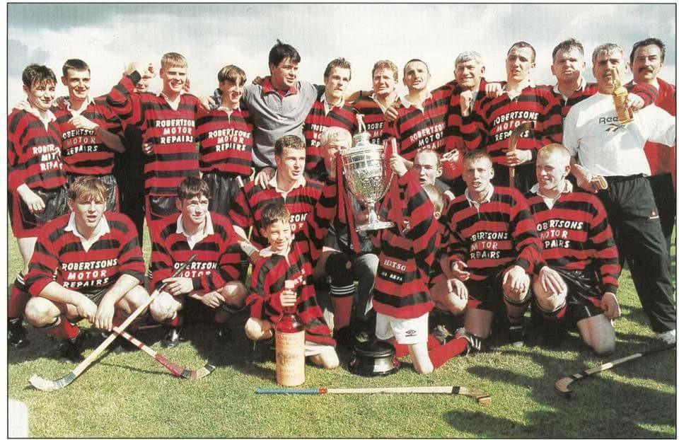 The Oban Camanachd team that won the Camanachd Cup in 1996.