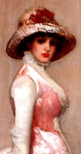 Lady Meux in pink by James McNeil Whistler.