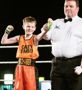 Ten year old Josh Dieguno after winning his bout. Picture Iain Ferguson The Write Image. F20 Boxing 3no JP