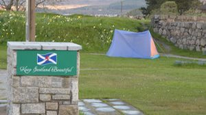 Camper at the Old Fort. Picture Iain Ferguson The Write Image. F23 tents 2no IF