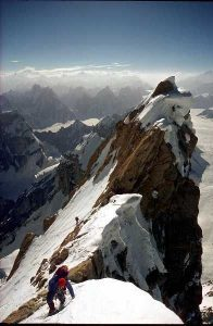 Doug makes his ascent of BainthaBrakk in the Karakoram in Asia, known as The Ogre.