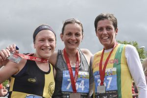 Ladies winners from the half marathon. Picture Sara Bain. F24 Skye hlaf marathon 2no SB